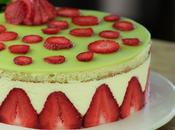 Receta fraisier. Postre francés fresas crema muselina