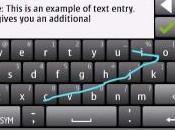 Sistema escritura veloz Swype para Nokia