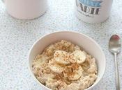 Porridge plátano canela