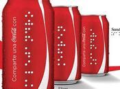 Coca Cola imprime nombres para personas invidentes