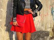 Vestido rojo falda roja
