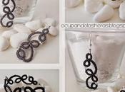 Bisutería: Pendientes pulseras originales florales