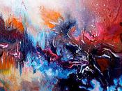 chica escuchaba pintura veía música: arte sinestesia.