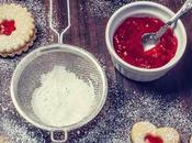 Galletas mantequilla rellenas mermelada fresas