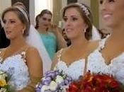 Trillizas brasileñas cumplen sueño casan mismo tiempo