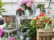 Jorge Juan llena flores mercadillo aire libre