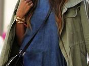 Street style inspiration; styilish khaki.-