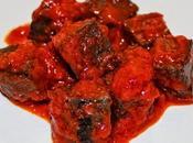 Sangre frita tomate