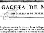 Anuncio plaza para Maestro Fuenlabrada (1817)