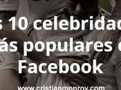 celebridades populares Facebook