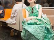 Vestido gala para subir metro