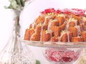 Bundt cake pistacho, fresa rosa