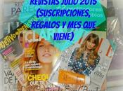 Revistas Julio 2015 (Suscripciones, Regalos viene)