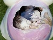 Molde Escayola Embarazo Ilustrado mucho Amor