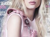 Lily Donaldson luce guapa rosa Prada para ELLE