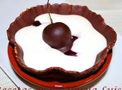 Tartaletas cerezas chocolate crema queso
