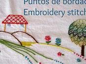 Puntos bordado: punto collalba cabeza toro Embroidery stitches: wheatear stitch