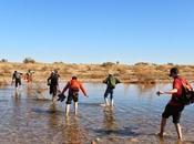 Cruzando Draa cerca Oulad Driss (Marruecos)