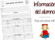 Hoja para información alumno