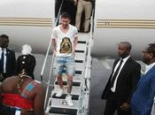 Messi, campechano, pantalones cortos presidente Gabón