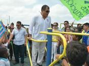 Rafael Correa inauguró tramos proyecto Guayaquil ecológico