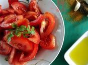 Ensalada marroquí tomates aliñados
