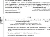 Nueva sentencia Palmas anulando cláusula suelo Bankia recuperando pagado