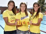 Mireia Belmonte, Carbonell Jennifer Pareja brindado junto Cola Juegos Olímpicos #Río2016