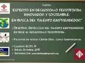 """Curso """"Experto Desarrollo Territorial Innovador Sostenible: busca talento emprendedor"""""""