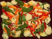 Verduras asadas vinagre balsámico