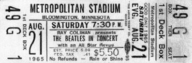 años: Ago. 1965 Metropolitan Stadium Minneapolis, Minnesota [VIDEO]