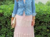 looks vestido rosa largo teria yabar santander. look casual