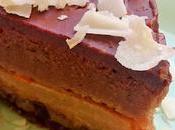 Tarta vegana chocolate dulce leche vegano, nueces mango