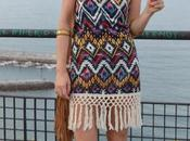 Fringe boho dress