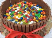 Tarta galletas lacasitos, m&m's