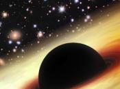 monstruoso estirón joven agujero negro