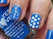 Nail Azul Klein Puntos