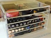 Organización maquillaje: cajoneras muji