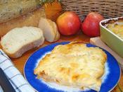 Pastel patatas manzana horno queso Mahón