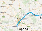 Viaje Alpes moto, etapa, Toledo, Molina Aragón, Alcañiz, Barcelona.