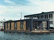 Minimalismo casa flotante Copenhague