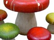 Muebles infantiles forma setas hongos