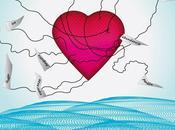 Ilustración corazón flota vuela gracias las...