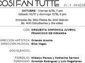 "Regresa Temporada Ópera CCCH ""Così Tutte"""