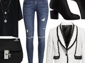 #outfit1 dia: blanco negro