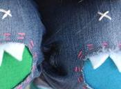Cómo hacer parches monstruos para pantalones infantiles