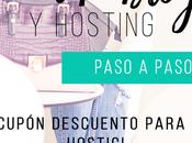 Cómo crear blog WordPress paso Descuento para hosting dominio