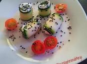 Rollitos calabacín queso crema orégano