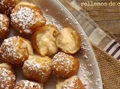 Buñuelos viento rellenos crema pastelera