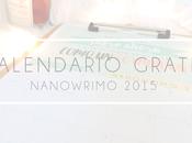 Calendario descargable para NaNoWriMo 2015